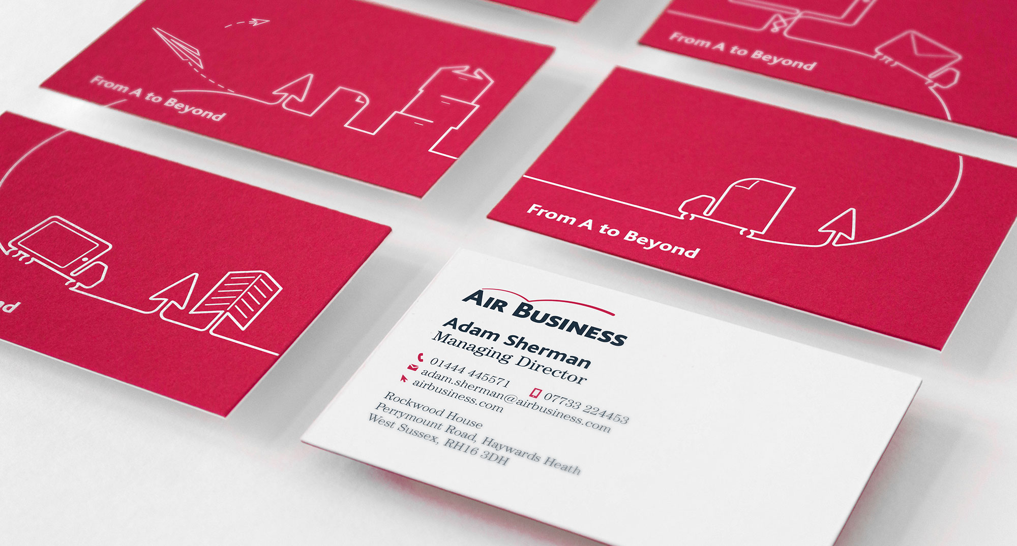 Air business corporate branding business cards close the corporate branding colourmoves